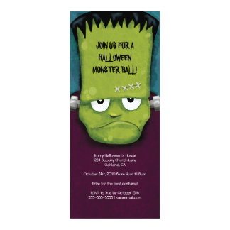 "Frankenstein Monster Ball | Halloween Party Invita 4"" X 9.25"" Invitation Card"