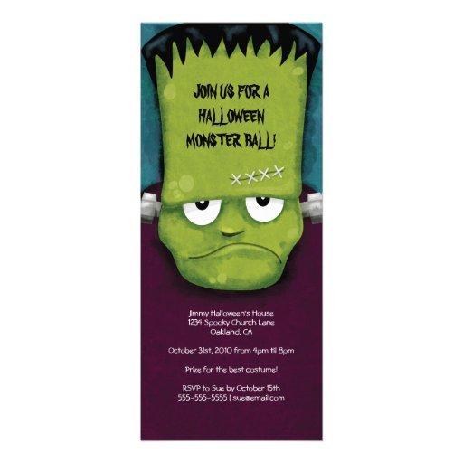 Frankenstein Monster Ball   Halloween Party Invita Invitation