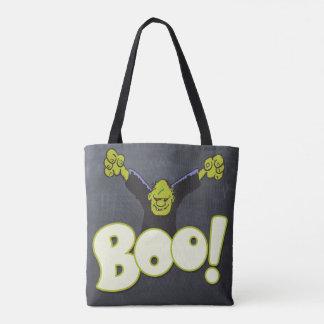 Frankenstein Monster Halloween Frankie Black Chalk Tote Bag