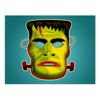 Frankenstein Monster Mask Postcard