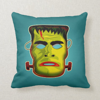 Frankenstein Monster Mask Throw Pillow