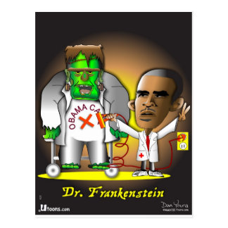 Frankenstein Obama Care Postcard