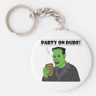 FRANKENSTEIN party Basic Round Button Keychain