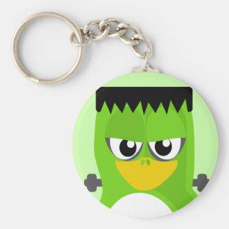 Frankenstein Penguin Basic Round Button Keychain