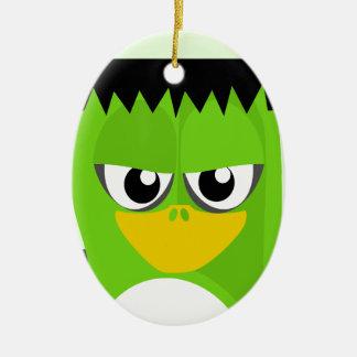 Frankenstein Penguin Ceramic Oval Ornament