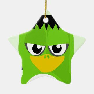 Frankenstein Penguin Ceramic Star Ornament