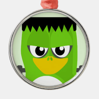 Frankenstein Penguin Metal Ornament