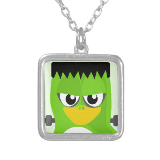 Frankenstein Penguin Silver Plated Necklace