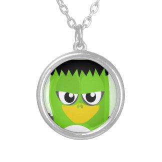 Frankenstein Penguin Silver Plated Necklace