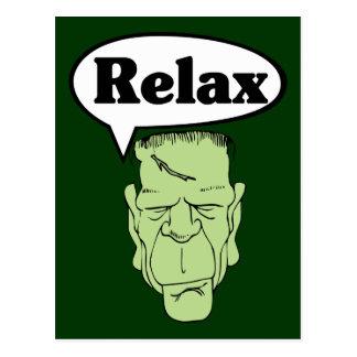Frankenstein Relax Postcard