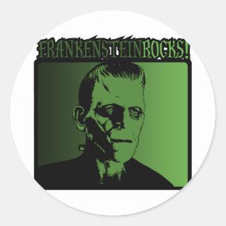 Frankenstein Rock! Round Sticker