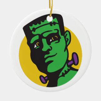 Frankenstein Round Ceramic Ornament