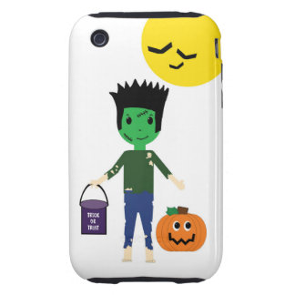 Frankenstein Trick or Treating Halloween iPhone 3 Tough iPhone 3 Cover