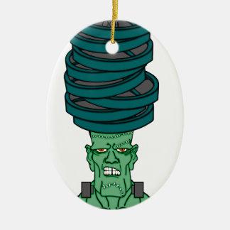 Frankenstein under weights ceramic oval ornament