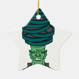 Frankenstein under weights ceramic star ornament