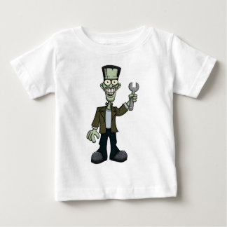 Frankenstein with Wrench Baby T-Shirt