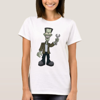 Frankenstein with Wrench T-Shirt