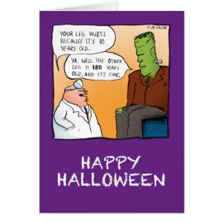 Frankenstein's Doctor Halloween Card