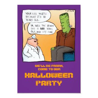 Frankenstein's Doctor Halloween Invitation