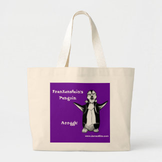 Frankenstein's Penguin: Arrggh! Large Tote Bag