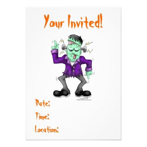 Frankenstien Halloween Invitations