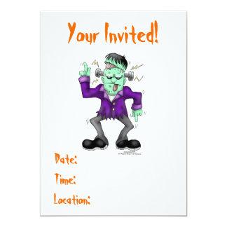 "Frankenstien Halloween Invitations 5"" X 7"" Invitation Card"