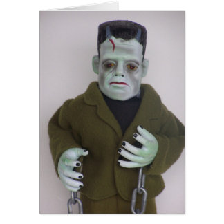 Frankenstien Monster Halloween Note Card