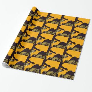 frankenstien wrapping paper
