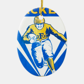 Frankford Yellow Jackets Ceramic Oval Ornament