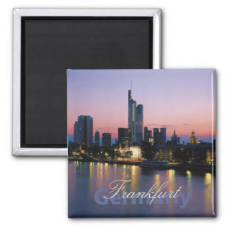 Frankfort Germany Nighttime Photo Souvenir Magnets