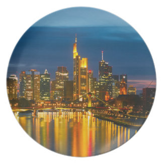 Frankfurt A Main as melamine plates