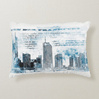 Frankfurt, architecture - Popart illustration Accent Pillow