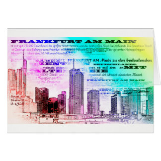 Frankfurt, architecture - Popart illustration Card