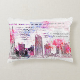 Frankfurt, architecture - Popart illustration Decorative Pillow