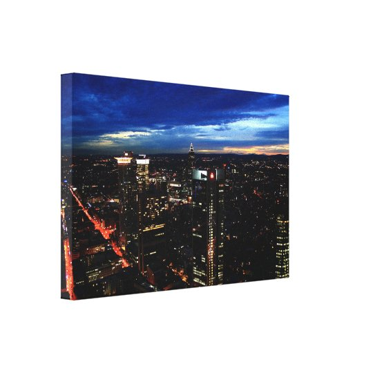 Frankfurt City Lights Canvas Print