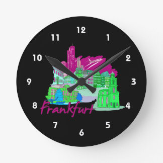 frankfurt city maroon  travel vacation design.png clocks