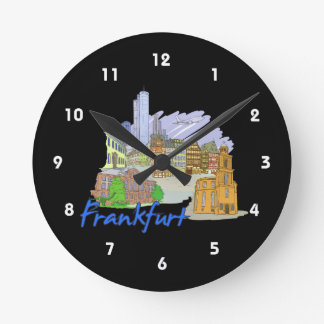 frankfurt city travel vacation design.png clock