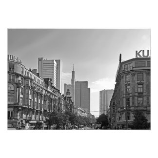 Frankfurt. City View in the Kaiserstrasse Photo Print