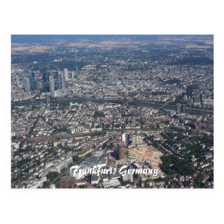 Frankfurt Germany From the Sky Postcard