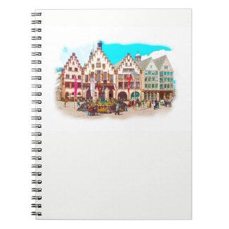 Frankfurt, Germany Romans, Market Place Notebook