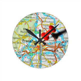 Frankfurt, Germany Round Clock