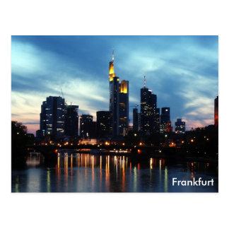 Frankfurt, Germany skyline Postcard