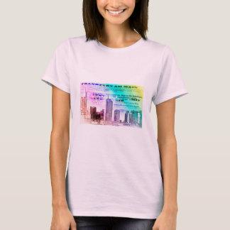 Frankfurt, skyline Architecture - Popart T-Shirt