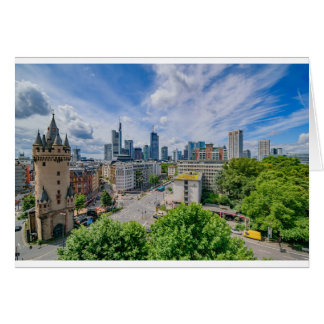 Frankfurt Skyline Card