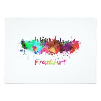 Frankfurt skyline in watercolor card