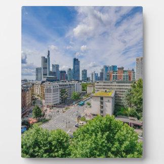Frankfurt Skyline Plaque