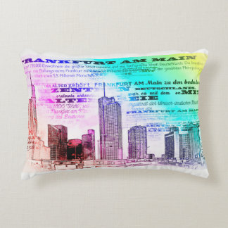 Frankfurt, Skyscaper Architecture - Popart Decorative Pillow