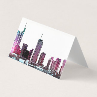 Frankfurt, Skyscraper Architecture - illustration Card
