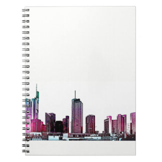 Frankfurt, Skyscraper Architecture - illustration Notebook