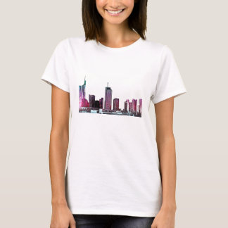 Frankfurt, Skyscraper Architecture - illustration T-Shirt